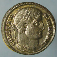 HIGH GRADE SILVERED CONSTANTINE I PROVIDENTIAE AVGG CAMP GATE FRO THESSALONICA