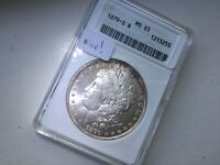 1879-S DOLLAR IN EARLY ANACS HOLDER MINT STATE 65