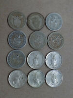 19 COIN LOT PHILIPPINES 10 & 20 CENTAVOS SILVER COINS DIFFER