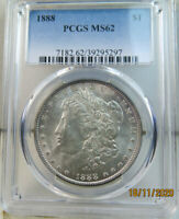 1888 MORGAN DOLLAR PCGS MINT STATE 62 VAM 7A DOUBLED REVERSE HOT50 BR