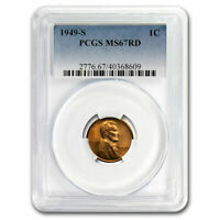 1949-S LINCOLN CENT MINT STATE 67 PCGS RED - SKU218084