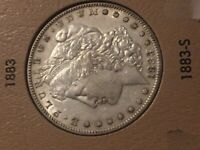 1883-S MORGAN SILVER DOLLAR $1 - EXCELLENT CONDITION -  LUSTER & FEATHERS A