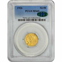 Click now to see the BUY IT NOW Price! 1926 $2.5 MS65 PCGS CAC INDIAN QUARTER EAGLE GOLD