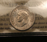 1938 CANADA SILVER 10 CENTS. MS 62 ICCS CERTIFIED. BV $95