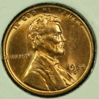 1954-D 1C LINCOLN WHEAT CENT BU 20OR1020-1 70 CENTS SHIPPING