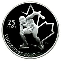 CANADA 25 CENT SILVER PROOF 2010 VANCOUVER SPEED SKATING