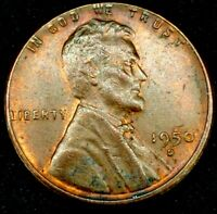 1950-D 1C LINCOLN WHEAT CENT AU 20LCT0818 70 CENTS SHIPPING