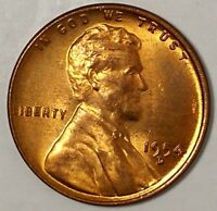 1954-D 1C LINCOLN WHEAT CENT BU RED 18CS1222 70 CENTS SHIPPING