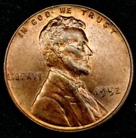 1952-P 1C LINCOLN WHEAT CENT UNC 19OL1123 70 CENTS SHIPPING