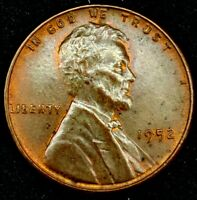 1952-P 1C LINCOLN WHEAT CENT UNC R/B 18LL1003-1 70 CENTS SHIPPING
