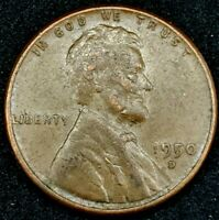 1950-D 1C LINCOLN WHEAT CENT 20OT1202 70 CENTS SHIPPING
