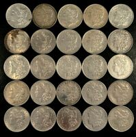 FABULOUS COLLECTOR LOT OF 25 1879-1904 MORGAN SILVER DOLLARS - FROSTY/CHOICE
