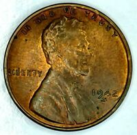 1942-D 1C LINCOLN WHEAT CENT UNC R/B 17SR0910-1 70 CENTS SHIPPING