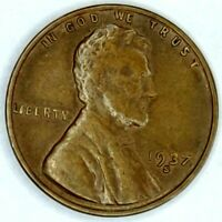 1937-S 1C LINCOLN WHEAT CENT 17SR2811-2 70 CENTS SHIPPING