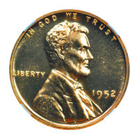 1952 WHEAT REVERSE LINCOLN CENT PROOF 1C NGC PR68RD