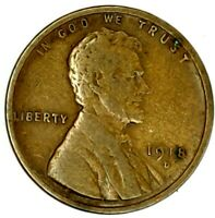 1918-D 1C LINCOLN WHEAT CENT 17RR2808-2 70 CENTS SHIPPING