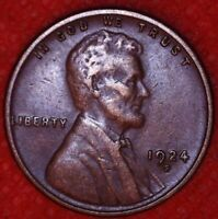 1924-S LINCOLN WHEAT CENT PENNY SAN FRANCISCO MINT 1CA105
