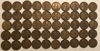 ROLL OF 50  FINE 1919-S LINCOLN WHEAT CENTS.KX2
