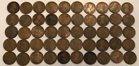 ROLL OF 50 1918-D LINCOLN WHEAT CENTS. AG-G. EX3