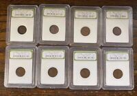 8 LINCOLN WHEAT CENTS 2-1938, 2-1939, 1939-S, 1944, 1947-D AND 1954-S