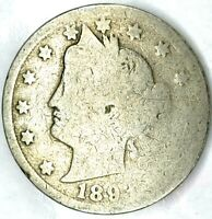 1893-P 5C LIBERTY HEAD NICKEL 20HS0314 70 CENTS SHIPPING