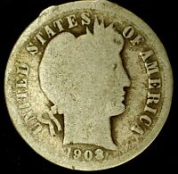 1903-P 10C BARBER DIME 90 SILVER 19LUL0916 70 CENTS SHIPPING