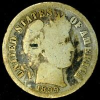 1899-P 10C BARBER DIME 90 SILVER 20OTH0326 70 CENTS SHIPPING