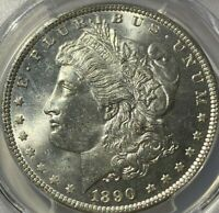 1890 $1 MORGAN SILVER DOLLAR PCGS MINT STATE 64 GORGEOUS COIN AWESOME LUSTER