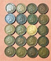 1900-1908 INDIAN HEAD CENTS, PENNY, 20 HIGH GRADE COINS 1