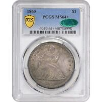 Click now to see the BUY IT NOW Price!  1860 $1 MS64  PCGS CAC SEATED DOLLAR