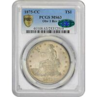 Click now to see the BUY IT NOW Price! 1875 CC T$1 MS63 PCGS CAC TRADE DOLLAR CARSON CITY OBV REV 1