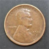 1916-S LINCOLN WHEAT EARS CENT BROWN SEMI KEY DATE