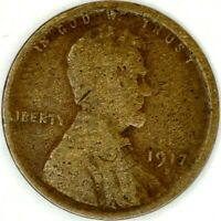 1917-S 1C LINCOLN WHEAT CENT 18RR0905 70 CENTS SHIPPING