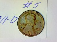 1911 D LINCOLN WHEAT CENT LOT 5
