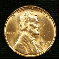 1957-D 1C LINCOLN WHEAT CENT BU 20OR1020-2 70 CENTS SHIPPING