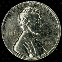 1943-S 1C LINCOLN WHEAT CENT AU 19UU1123 70 CENTS SHIPPING