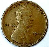 1918-P 1C LINCOLN WHEAT CENT 17RR0709-3 70 CENTS SHIPPING