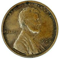 1926-P 1C LINCOLN WHEAT CENT EXTRA FINE  17OOH0806-3 70 CENTS SHIPPING