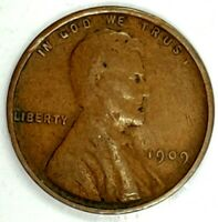 1909-P 1C LINCOLN WHEAT CENT 17LHC2207-3 70 CENTS SHIPPING