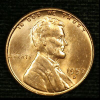 1957-D 1C LINCOLN WHEAT CENT BU 20OR1020-3 70 CENTS SHIPPING
