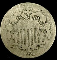 1882-P 5C SHIELD NICKEL 20OCR1023 70 CENTS SHIPPING
