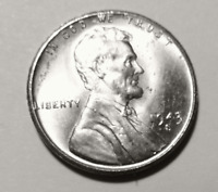 COIN - 1943-S LINCOLN CENT WHEAT REVERSE TYPE 2 STEEL - MS
