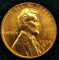 1954-D 1C LINCOLN WHEAT CENT BU 20OH1226 70 CENTS SHIPPING