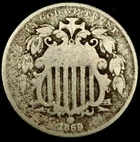 1869-P 5C SHIELD NICKEL 20CTO1124 70 CENTS SHIPPING