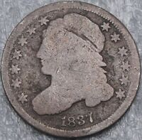 1837 10C CAPPED BUST DIME EARLY DIME 90  SILVER 3975
