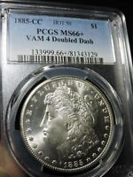 1885-CC MORGANNGC MINT STATE 66VAM 4, HOT 50--SUPER CHERRY AND PROOF LIKE,