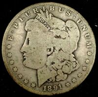 1891-O $1 MORGAN DOLLAR 90 SILVER 20OUCT1116