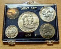 1951 P U.S. 5 COIN MINT SILVER SET NICE