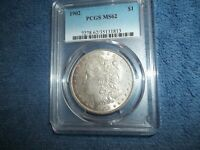 1902 MORGAN DOLLAR PCGS MINT STATE 62 BEAUTIFUL LOOKING COIN