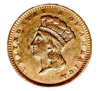 1856 GOLD $1 INDIAN PRINCESS T 3 LARGE HEAD UPRIGHT 5 CHOICE